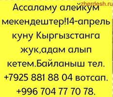 14 апрель куну кыргызстанга жонойбуз передача пасылка алпбыз